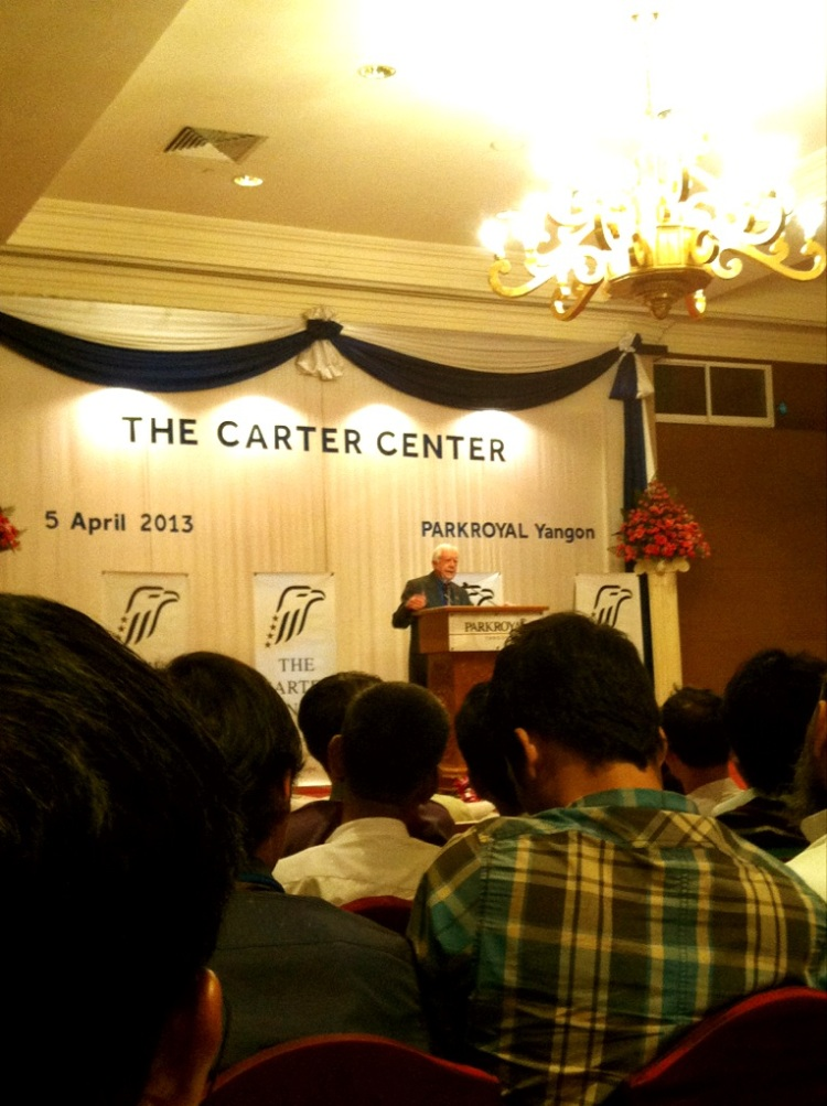 Jimmy Carter in Yangon